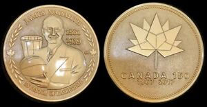 James-Naismith-Inventor-of-Basketball-Canada-150-Medal-Gold-Plate-Only-50-Made