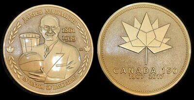 James Naismith Inventor of Basketball Canada 150 Medal Gold Plate Only 50 Made