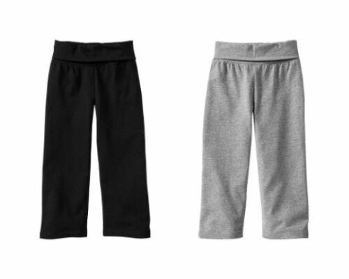 NWT Baby GAP Foldover Yoga Pants Bottoms Activewear NEW Black OR Heather Grey