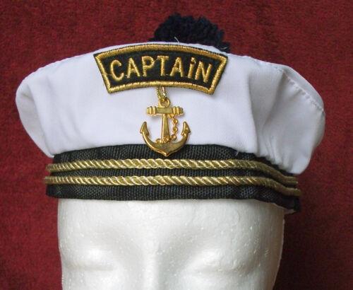Kid's Captain Hat Sailor Boat Marine Skipper Cap ONE SIZE FITS MOST