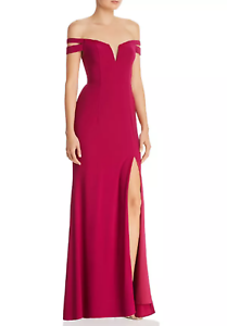 AQUA Off-the-Shoulder Gown MSRP  Größe 2 A 801 NEW