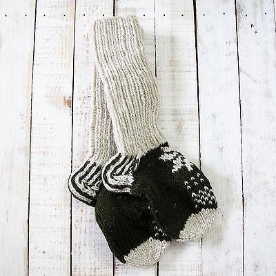 Analitico Funky Hand Knitted Inverno Lana Calze Lhotse-cachi-mostra Il Titolo Originale