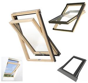 Dachfenster-Optilight-B-94x140-Schwingfenster-aus-Holz-Uw-1-3-incl-Eindeckrahmen