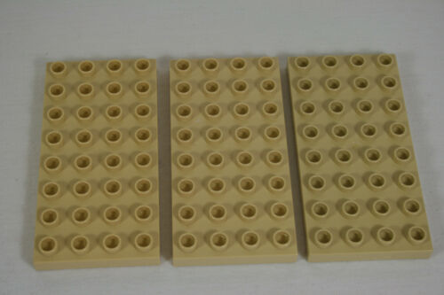 tan 3 Stück Z 4672 Bauplatte 4 x 8 Farbe  beige Lego Duplo 10119
