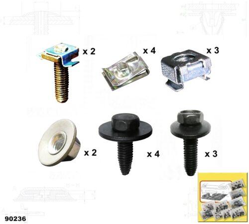 Unterfahrschutz Einbausatz Unterbodenschutz CLIPS Peugeot 307 /'01-/'07 90236