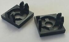 *NEW* 2 Pieces Lego BLACK MAGNET HOLDER TILE 2x2