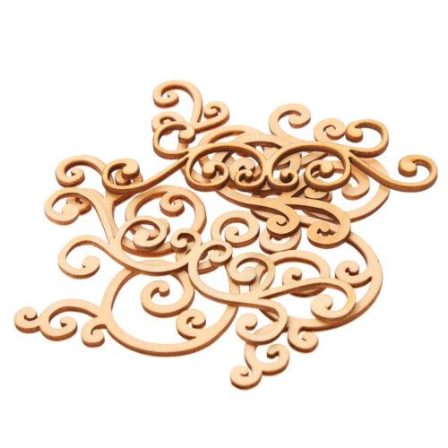 8 Stücke Große Blumenformen Holzformen Holzverzierung Holz Ornament