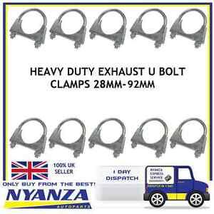 Universal-Exhaust-U-Bolt-Clamp-Car-Van-TV-Aerial-36mm-92mm-Heavy-Duty