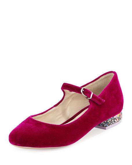Sophia Webster Renee Size Velvet Mary Jane Flat, Winter Cherry $368.00 Size Renee 35 81cb99