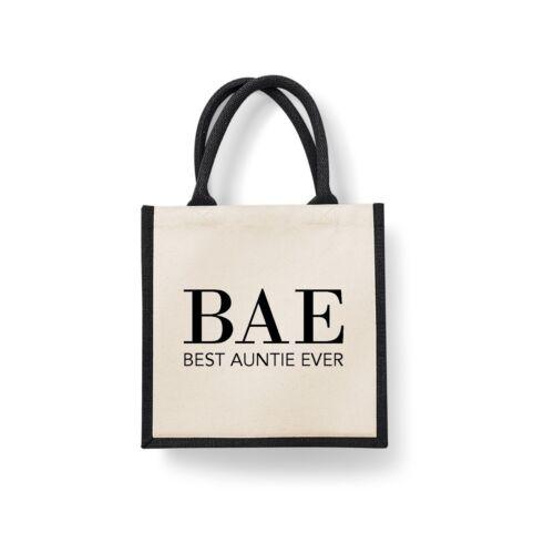 BAE miglior Zia mai Midi Taglia Iuta Shopping Tote Bag Zia Zia Regalo di Natale