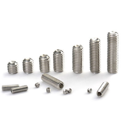 M4-0.70 x 10mm  Stainless Steel Socket Set Screws CUP Point DIN 916 A2-70