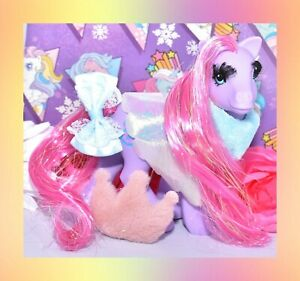 My-Little-Pony-MLP-G1-Vtg-1991-Eyelash-Princess-Royal-Purple-amp-Original-Cape
