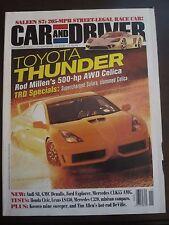 Car & Driver Magazine November 2000 Toyota 500 HP AWD Celica Saleen S7 (II) (ZZ)