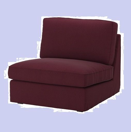 IKEA Kivik One Seat Sofa Cover Red Lilac Dansbo Chair Section Burgundy Wine  NEW
