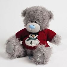 """Me to You 7"""" Knitted Snowman Jumper Plush Christmas Bear - Tatty Teddy"""