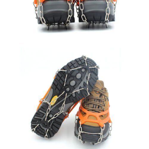 1 Pair  Ice Crampons Climbing Gripper Anti-slip Shoe Covers Spike Cleats 8 Teeth