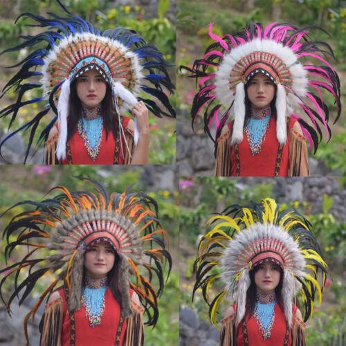 Native American Indian Headdress Costume War Bonnet