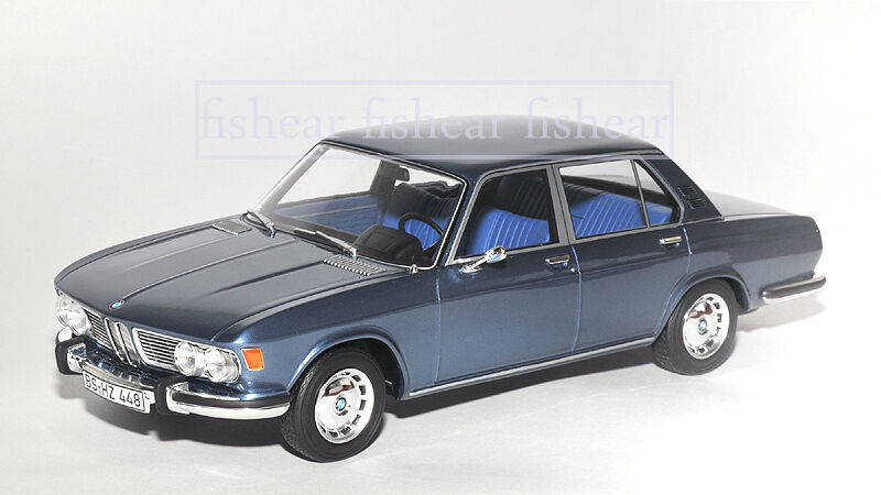 BMW 2500 E3 bluee 1 18 BOS