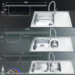 Smeg Alba 1.0/1.5/2.0 Stainless Steel Kitchen Sink & Drainer Surface ...