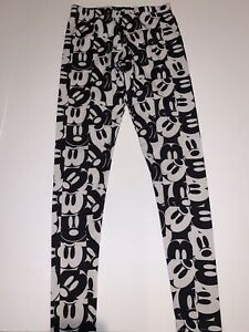 Disney-Mickey-Mouse-Women-039-s-Leggings-Sz-Small-Black-And-White-Stretch