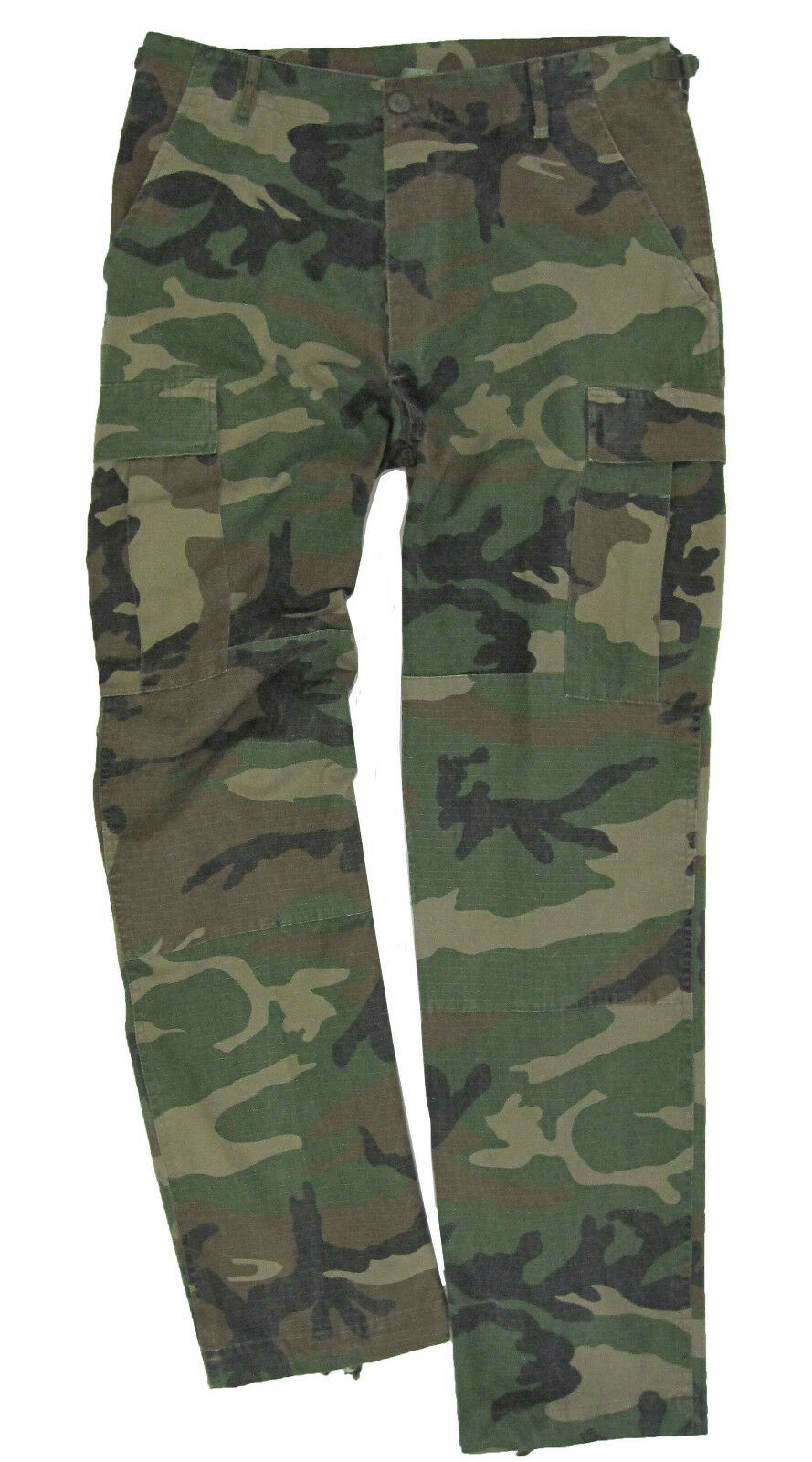BDU Woodland Camo Rip Stop Trousers - Army Military Cotton Combats New