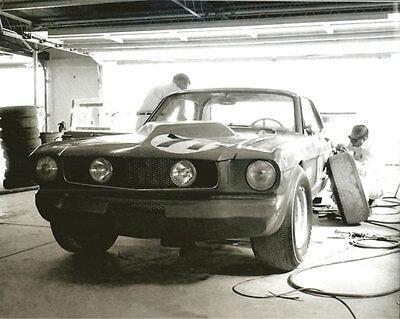 Vintage 8 X 10 Auto Racing Photo 1965 Daytona Essex Wire Mustang