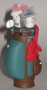 Hallmark-Keepsake-Ornament-Tee-039-s-The-Season-Golf-Bag-Penguin-Snowman-Head-Covers
