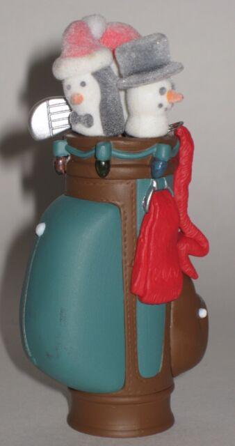 Hallmark Keepsake Ornament Tee's The Season Golf Bag Penguin Snowman Head Covers