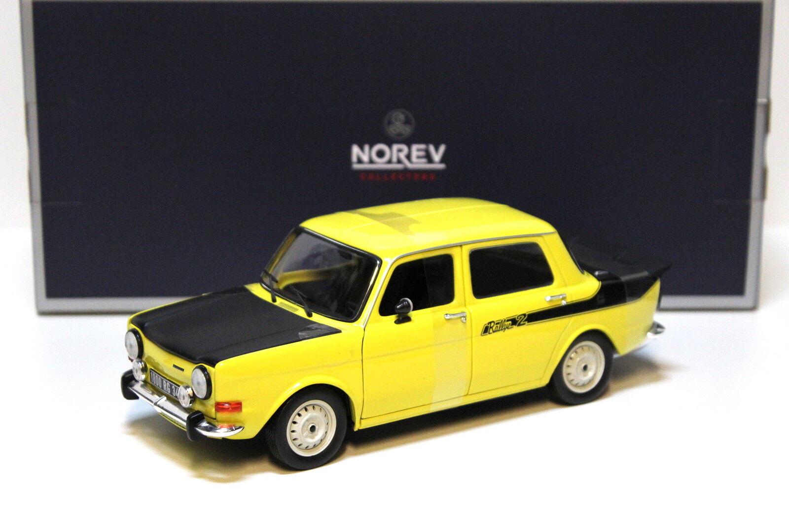 1 18 Norev Simca 1000 Rallye 2 jaune 1976 New chez Premium-modelcars