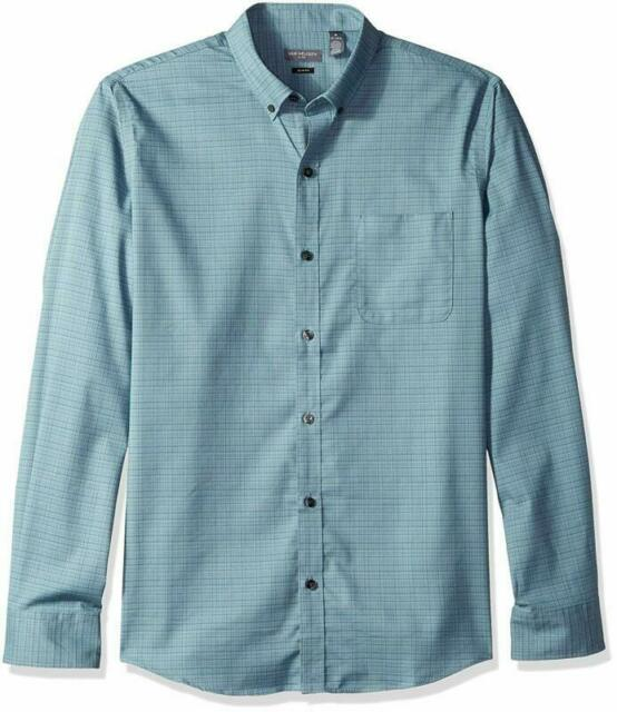 Van Heusen Mens Slim Fit Flex Short Sleeve Button Down Solid Shirt