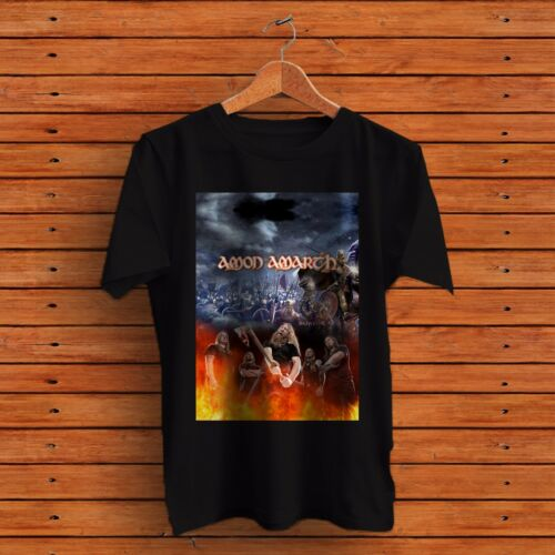 COOL AMON AMARTH Music Sport Mens Black T-Shirt Tee RARE ITEMS