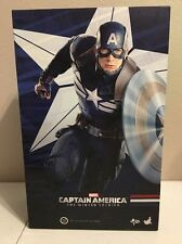 """Sideshow Hot Toys 1:6 12"""" Captain America Stealth STRIKE Suit Winter Soldier New"""