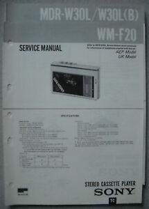 SONY-WM-F20-und-MDR-W30L-Service-Manual