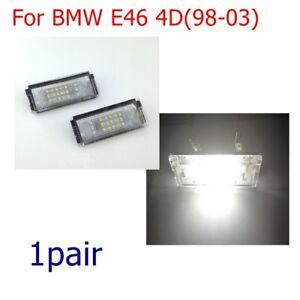 2x-Spuer-White-LED-Error-Free-Number-License-Plate-Light-For-BMW-E46-4D-98-03