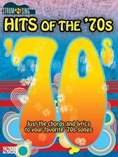 Hits of the '70s Sheet Music Strum & Sing Series Easy Guitar Book NEW 002500871