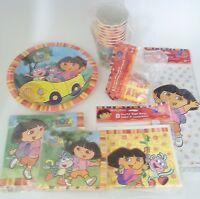 Dora The Explorer Birthday Party Supply Pack Kit For 8 Plates Napkins Bags
