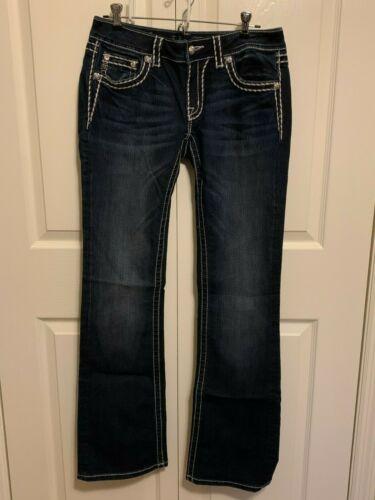 Women's Miss Me Jeans-LOOSE SADDLE STITCH BORDER
