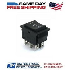 Momentary DPDT ~ Double Pole Double Throw 6-Pin (ON-OFF-ON) 20amp Rocker Switch