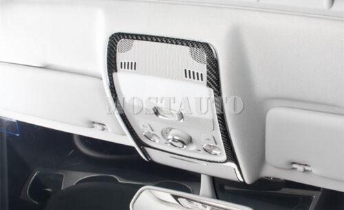 For Audi Q5 8R Carbon Fiber Inner Roof Front Reading Light Trim Cover 2009-2015