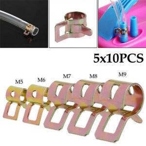 50Pcs-Spring-Clip-7mm-Inner-Diameter-Car-Hose-Oil-Tube-Clamp-Fastener-Clip-TRU