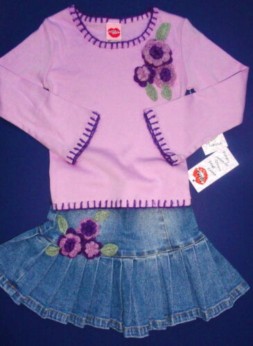 "NWT Lipstik /""Purple Haze/"" Denim Skirt SET 4 6X 102 114"