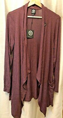 BOBEAU Ultra Soft Peppercorn CARDIGAN LONG SLEEVE Sweater NEW WITH TAG Medium | eBay
