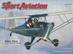 Sport-Aviation-Jan-2002-Pober-Pixie-II-Glasair-Sea-Hawk-1966-Mooney-C