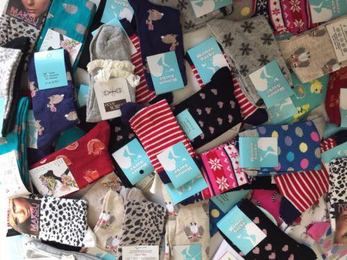 10 pairs ladies women luxury socks coloured design cotton blended size 4-7 JMWDF