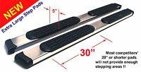 Fits 05-12 Nissan Pathfinder 5 Safari Running Boards Nerf Bars Aluminum Pads