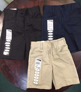 black khaki shorts for girls