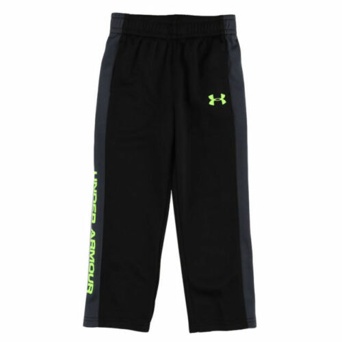 UNDER ARMOUR Toddler Boy/'s STAMPEDE Pants ** BLACK//GREY//FUEL GREEN 2T ** NWT