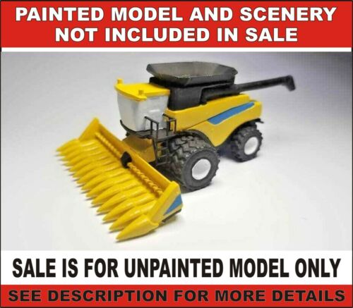 N scale Combine V2 equipment vehicle farm crops 1:160 model railroad unpainted