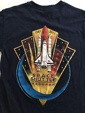 Navy NASA 1981-2011 Space Shuttle Program 30th Anny T-shirt Mens Sz Small P2