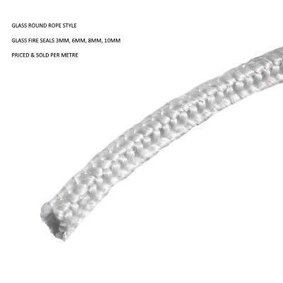 Multi-fuel//Wood Stove Door 8mm Standard Black Rope Seal Kit 2 metre Pack